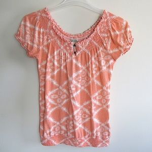 New Lucky Printed Cotton Knit Top Small Size 2
